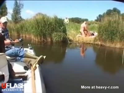 Couple Caught Fucking By Fisherman