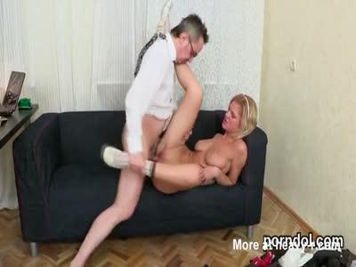 Fervid schoolgirl is tempted and rode by her elderly schoolt
