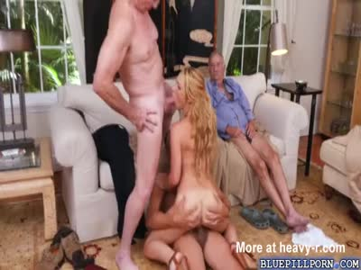 Old Men Gangbang Young Blonde