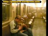 Amateur video of girl giving blowjob in train