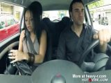 Horny Latin GF Squirts In Car