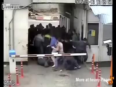 Russian Hooligan Fight