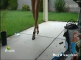 Girl Shuffling On High Heels