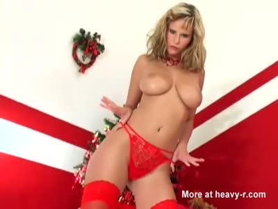 Big Boob Blonde Holiday Teasing