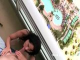 Bikini Girl Sucking Cock On Balcony
