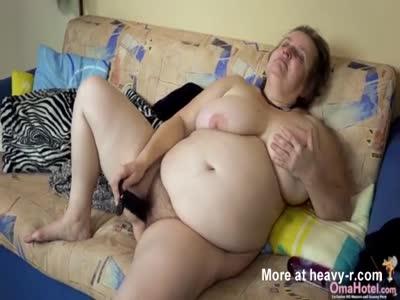 Granny Masturbating With Sextoys