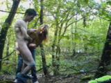 Couple Masturbating Outdoor