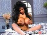 Ebony Beauty With Huge Fake Tits