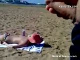 Public Masturbator On The Beach