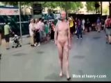 Guy With No Dick Walking Nude In Public