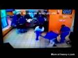 Pitbull Attack In Barbershop