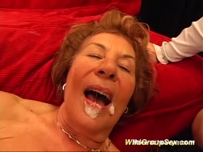 Granny Cummed In Mouth