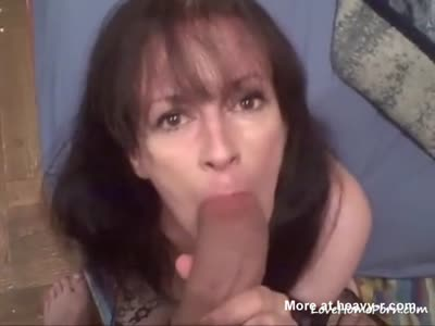 Sucking On The Biggest Dick She's Seen