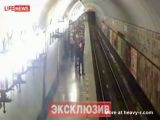 Man jumps in front of train
