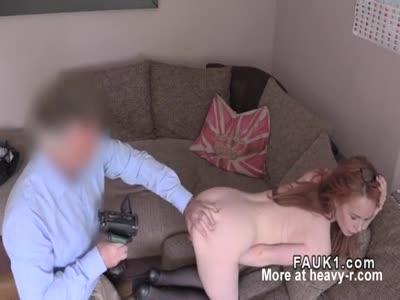 Redhead Sucks Big Dick During Casting