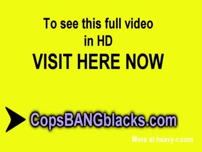 Black dick fucking female police officer threesome
