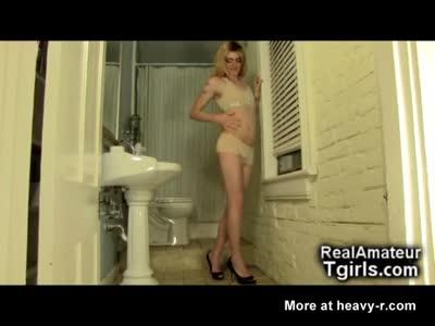 Femboy GF Teasing in the Toilets!