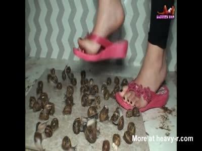 Girl Crushing Snails