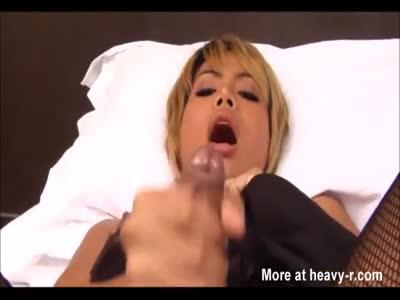 Beautiful Latina Shemale Masturbates