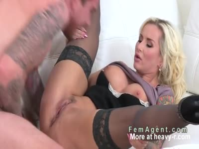 Busty Slut Female Agent Ravished During Casting