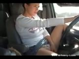 Fingering Pussy While Driving