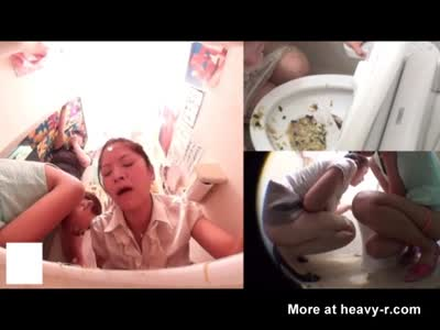 Sick Girls Puking In Public Toilet