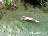 Naked Suicide Victim At The River