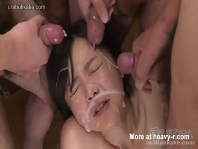 Bukkake Babe Glazed Over