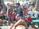Delicious butt bouncing on mechanical bull
