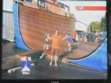 Reporter crushes skating kid live on tv.
