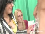 CFNM Femdom Girls Shaving Balls