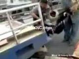 Helmet implosion on the highway