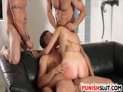 Spoiled Brat Gets Punished With Three Cocks