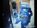 ATM Robbery in Action