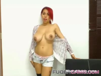Redhead girl with big tits only for you