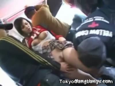White Teen Molested In Bus!