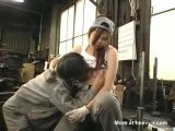 Asian forced to fuck at work