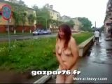 Alcoholic Woman Walking Naked In The Streets