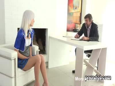 Sensual schoolgirl gets seduced and shagged by her aged lect
