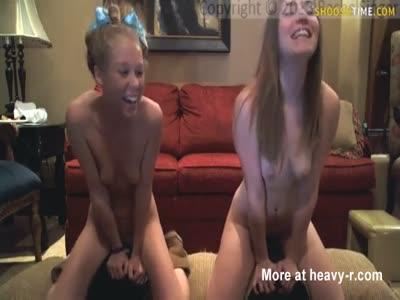 Two Teen Friends Cumming Loud On Sybian