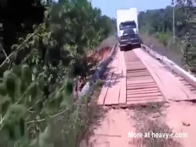Truck Too Heavy For Bridge