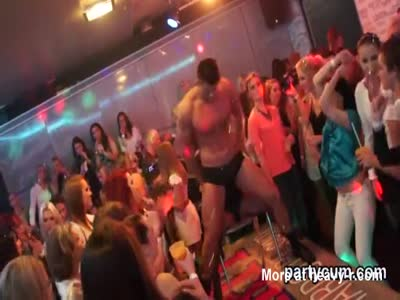 Spicy girls get completely crazy and naked at hardcore party