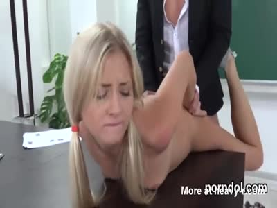 Cute schoolgirl is seduced and plowed by her older teacher