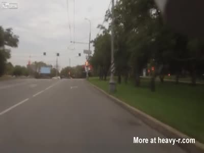 Biker Hits Into The Curb Hard And Dies Instantly