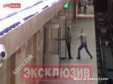 Man pushes lady onto the train tracks