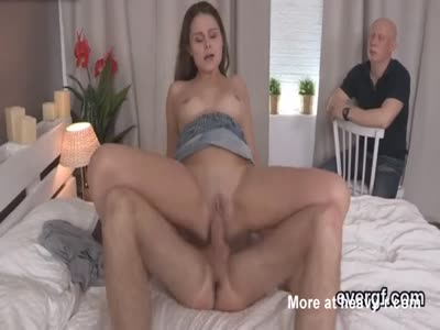Indebted boyfriend allows frisky buddy to ride his gf for ha