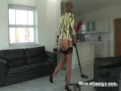 Cleaning The House In Lingerie