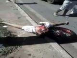 Cortado ao meio em acidente de moto
