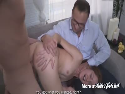 Flat broke bf lets naughty friend to fuck his lover for doll