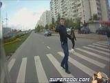 Armed street crossing